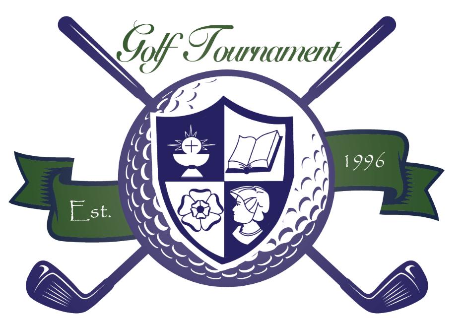 Annual golf tournament logo for St. Elizabeth Ann Seton classical Catholic school, Houston, TX